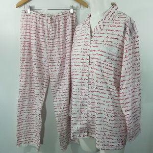 PJ Salvage Pajama Set Size M